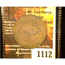 "1112.         1827 U.S. Large Cent c/s ""[WSB]""."