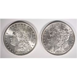CHOICE BU MORGAN DOLLARS - 1896 & 1890
