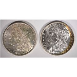 ( 2 ) 1887 MORGAN SILVER DOLLARS, CHOICE BU