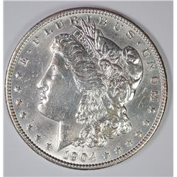 1904 MORGAN SILVER DOLLAR, CHOICE BU