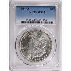 1904-O MORGAN SILVER DOLLAR PCGS MS65