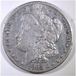 1892-CC MORGAN SILVER DOLLAR  NICE  KEY COIN
