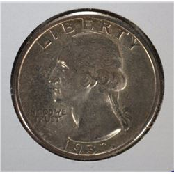 1932 WASHINGTON QUARTER 1ST YEAR OF ISSUE GEM BU  LITE TONE