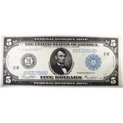 1914 $5 FEDERAL RESERVE NOTE FR851C XF