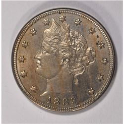 "1889 LIBERTY ""V""  NICKEL, GEM BU"