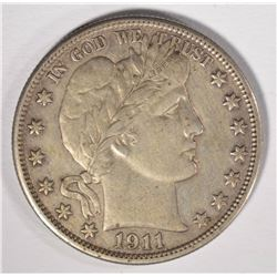 1911 BARBER HALF DOLLAR, AU ORIGINAL!