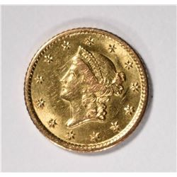 1851-O TYPE-1 GOLD DOLLAR  RARE!!!