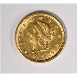 1852 TYPE-1 GOLD DOLLAR, BU
