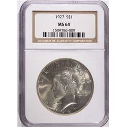 1927 PEACE SILVER DOLLAR - NGC MS64