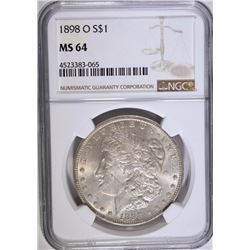 1898-O MORGAN SILVER DOLLAR, NGC MS-64