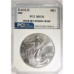 2000 AMERICAN SILVER EAGLE PCI PERFECT GEM