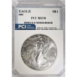 2002 AMERICAN SILVER EAGLE PCI PERFECT GEM