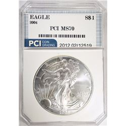 2004 AMERICAN SILVER EAGLE PCI PERFECT GEM