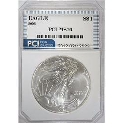 2006 AMERICAN SILVER EAGLE PCI PERFECT GEM