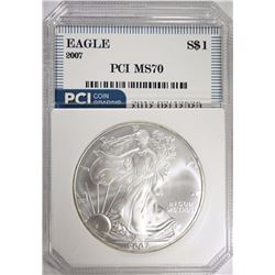 2007 AMERICAN SILVER EAGLE PCI PERFECT GEM