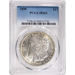 1890 MORGAN SILVER DOLLAR PCGS MS63