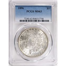 1896 MORGAN SILVER DOLLAR PCGS MS63