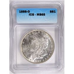 1888-O MORGAN SILVER DOLLAR ICG MS65
