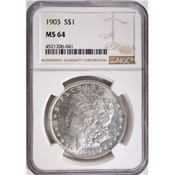 1903 MORGAN SILVER DOLLAR NGC MS 64