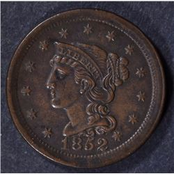 1852 LARGE CENT BROWN UNC