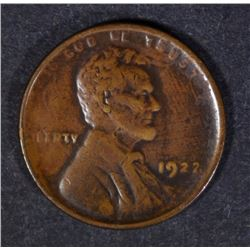 """1922 """"NO D"""" LINCOLN WHEAT CENT STRONG REV. F-VF  KEY COIN"""