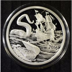 2016 Silverbug Island KRAKEN 1 oz Silver PROOF Round Finding Silverbugs PIRATE