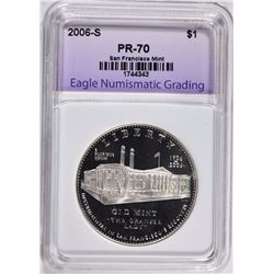 2006-S SAN FRANCISCO MINT PROOF SILVER DOLLAR PERFECT GEM PROOF - GRADED by ENG