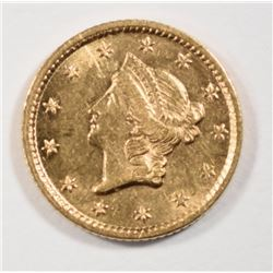 1853 $1.00 GOLD, CHOICE BU  RARE!