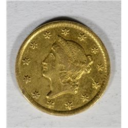 1853-C $1 LIBERTY GOLD COIN XF VERY RARE, LOW MINTAGE