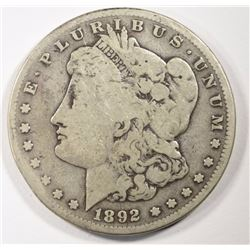 1892-S MORGAN SILVER DOLLAR - VG