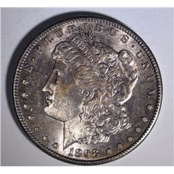 1898-S MORGAN SILVER DOLLAR, CHOICE BU  KEY DATE   GREAT TONING!