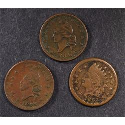 ( 3 ) PATRIOTIC CIVIL WAR TOKEN: ARMY & NAVY