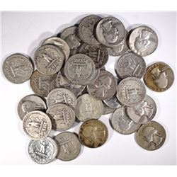 $10 FACE VALUE 90% SILVER WASHINGTON QUARTERS