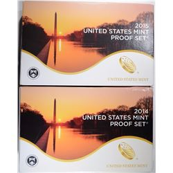 2014 & 2015 U.S. PROOF SETS IN ORIG PACKAGING