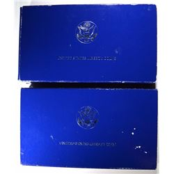 2-1986 2-PIECE STATUE OF LIBERTY 2 COIN Pf COMMEM SETS IN ORIG BOXES/COA