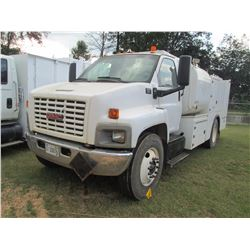 2005 GMC C6500 FUEL & LUBE TRUCK, VIN/SN:1GDJ6C1C95F504382 - S/A, CAT DIESEL ENG, A/T, 7 PRODUCT TAN