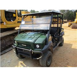 2015 KAWASAKI MULE 4010 UTV, VIN/SN:JK1AFCR12FB526315 - 4X4, POWER STEERING, CREW CAB, METER READING