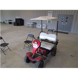 GROUNDHOG 450 ELECTRIC GOLF CART, VIN/SN:8001701075 - CANOPY, REAR BASKET, ONBOARD CHARGER, TWO (2)