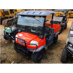 KUBOTA RTV900 UTILITY VEHICLE, VIN/SN:60436 - 4X4, DIESEL ENGINE, HYD DUMP BED, CANOPY, WINDSHIELD,