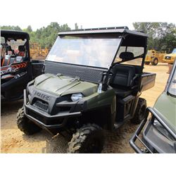 2012 POLARIS RANGER XP SIDE BY SIDE, VIN/SN:4XATH76A0CE288163 - GAS ENGINE, CANOPY, WINDSHIELD, DUMP