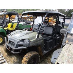 2014 POLARIS RANGER 800 SIDE BY SIDE, VIN/SN:4XAWH76A5E2304990 - CREW CAB, 4X4, GAS ENGINE, CANOPY,
