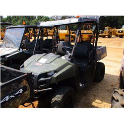 POLARIS RANGER 500 SIDE BY SIDE, - 4X4, GAS ENGINE, CANOPY, METER READING 1,150 HOURS