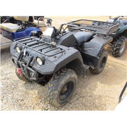 YAMAHA FOUR WHEELER, - GAS ENGINE, 4X4, METER READING 3,102 HOURS