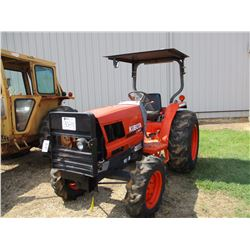 1994 KUBOTA L2900 FARM TRACTOR, VIN/SN:53834 - MFWD, 3 PTH, PTO, CANOPY, 420/70/24 TIRES, METER READ