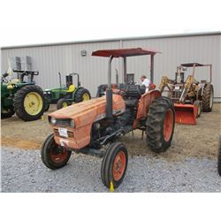 KUBOTA 345 FARM TRACTOR, VIN/SN:10622 - 3 PTH, PTO, CANOPY, 13.6-28 TIRES, METER READING 1,958 HOURS