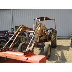 INTERNATIONAL 574 FARM TRACTOR, VIN/SN:6690 - 3PTH, PTO, 1 REMOTE, CANOPY, IHC 2050 FRONT LOADER ATT