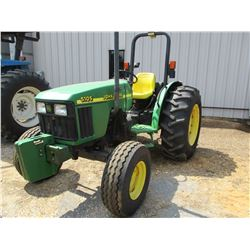 2003 JOHN DEERE 5105 FARM TRACTOR, VIN/SN:410787 - 3 PTH, PTO, 1 REMOTE, ROLL BAR, 16.9-28 TIRES