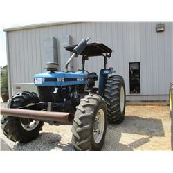 NEW HOLLAND 6610 FARM TRACTOR, VIN/SN:815239 - MFWD, 3 PTH, PTO, 3 REMOTES, CANOPY, 18.4-34 TIRES, M