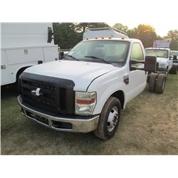 2009 FORD F350 CAB & CHASSIS, VIN/SN:1FDWF36R29EA00321 - FORD POWER STROKE DIESEL ENG, A/T, ODOMETER