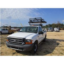 1999 FORD F250XL TRAFFIC CONTROL TRUCK, VIN/SN:1FTNF20L4XEE73441 - TRITON V8 GAS ENG, A/T, LED MESSA